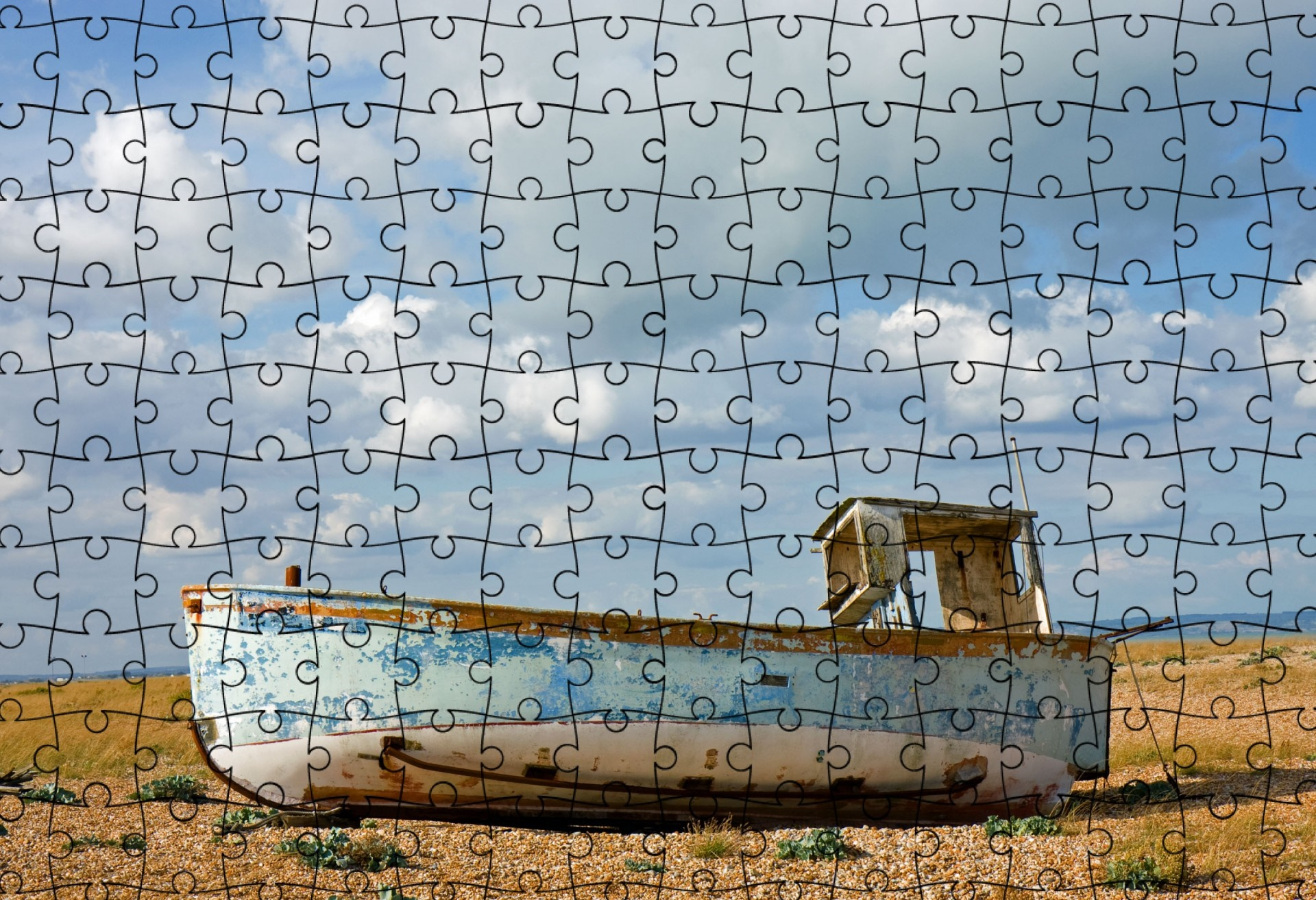 Jigsaw puzzle of a boat